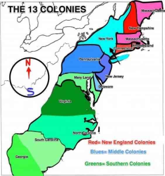 the thirteen colonies