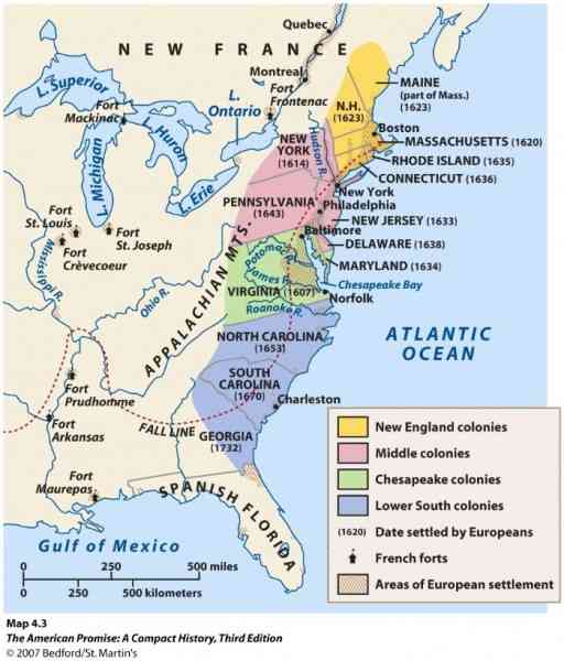 new england colonies vs southern colonies