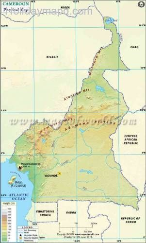 Cameroon Map 6