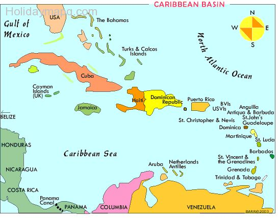 Map Of Caribbean Islands Map Holiday Travel HolidayMapQcom - Map of caribbean islands