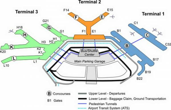 Free Map Of Ohare Airport - Holiday Map Q | HolidayMapQ.com