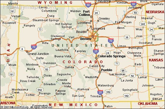 Map Of Colorado  Map  Holiday  Travel HolidayMapQ