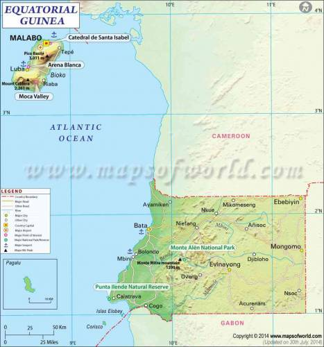 Equatorial Guinea Map 0