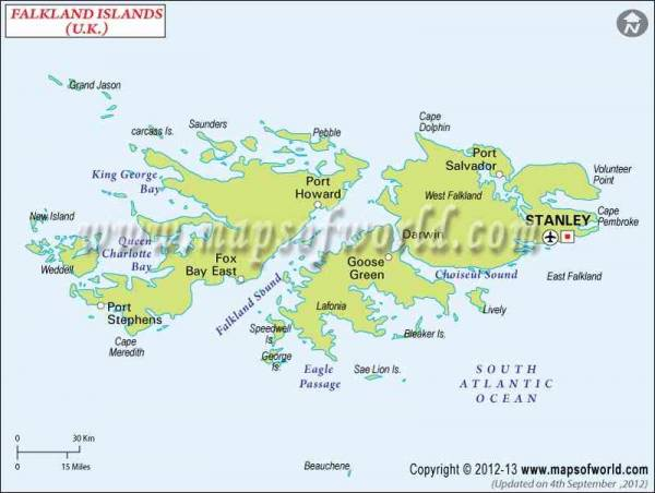 Falkland Islands Map 1