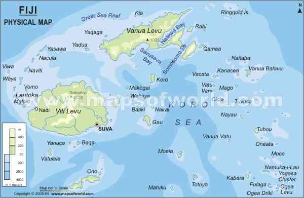 Fiji Map Latitude Longitude