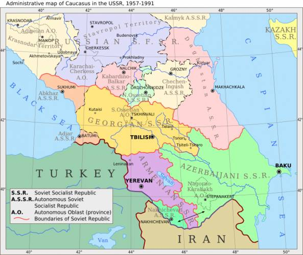 Free Map Of Caucasus Map Holiday Travel HolidayMapQcom - Caucus map
