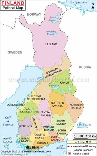 Finland Map 1