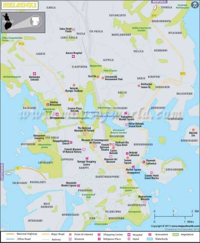 Finland map map holiday travel holidaymapq finland map 13 sciox Gallery