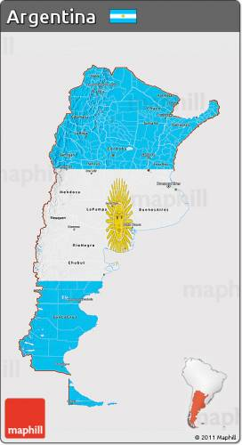 Free Map Of Argentina Map Holiday Travel HolidayMapQcom - Argentina 3d map