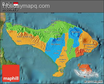 free-political-map-of-bali-satellite-outside