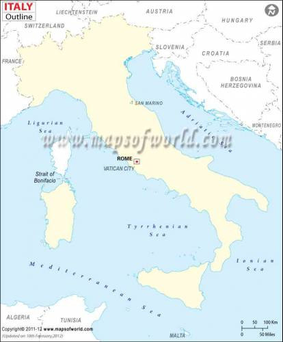 Italy Map 3