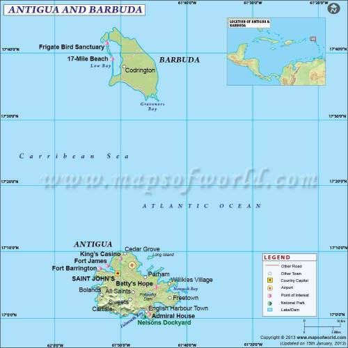 Map of Antigua and Barbuda 0