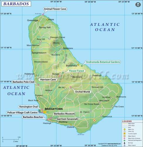 Map of Barbados 0