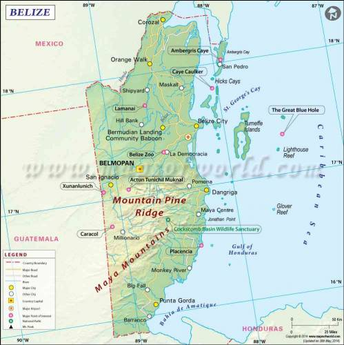 Map of Belize 0