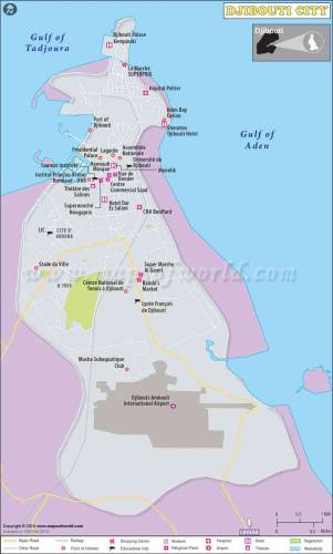 Map of Djibouti City