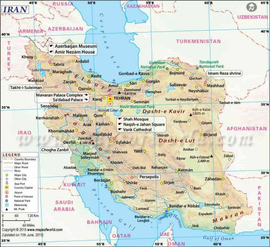 Map of Iran 0