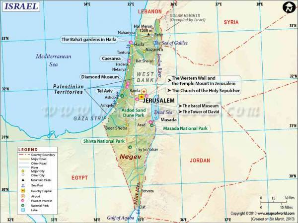 Map of Israel 0