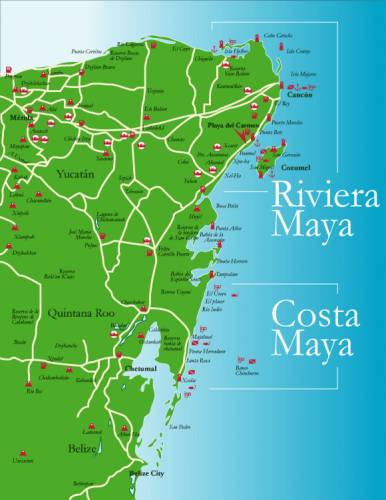 map-of-quintana-roo-riviera-maya-and-costa-maya-central-