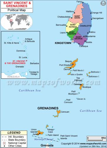 Map of St Vincent and the Grenadines 0
