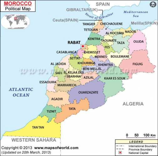 Morocco Map 1