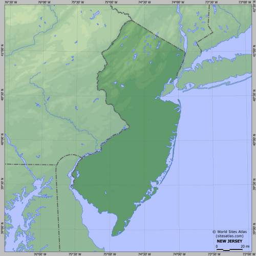 Free Map Of New Jersey Map Holiday Travel HolidayMapQcom - New jersey physical map