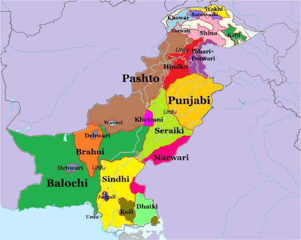 Political Map of Pakistan
