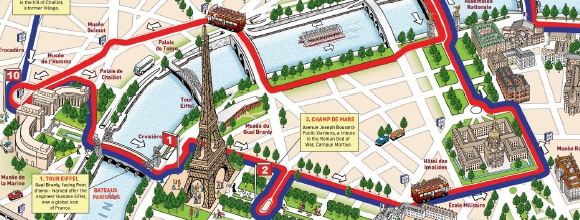 paris tourist map paris tourist attractions big bus