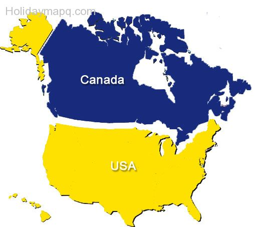 Maps Of States Of USA Abbreviations Of US State Names United - Us and canada maps