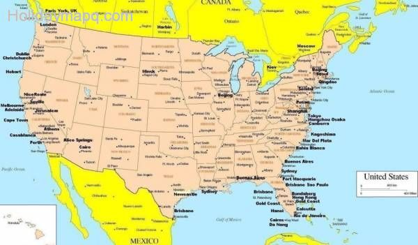 USA States And Canada Provinces Map And Info Canada Maps - Usa map with cities