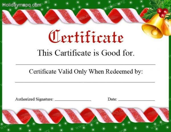 holiday gift certificate template free printable - gift certificate template free holiday map q