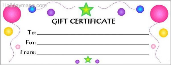 Gift Certificate Template Free - Map - Holiday - Travel