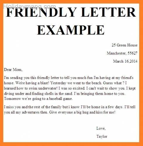 friendly letter format example friendly letter template holidaymapq 10265
