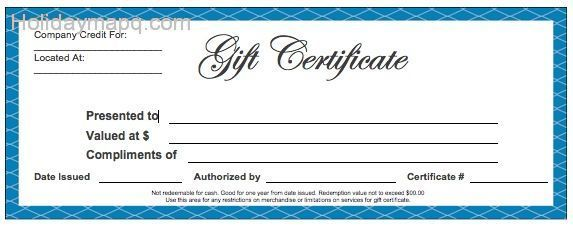 Free Gift Certificate Templates Vosvetenet – Gift Voucher Templates for Word