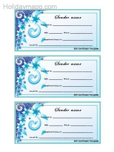 Free Gift Certificate Template - Map - Holiday - Travel