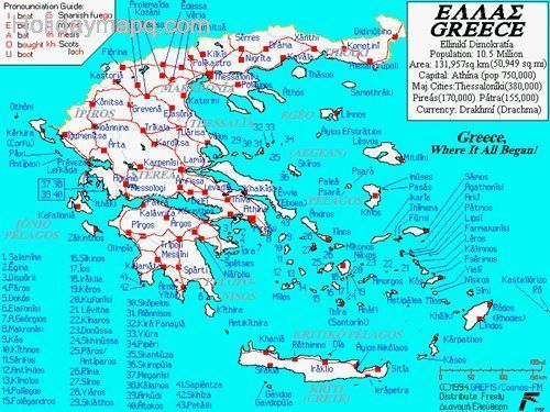 map-the-greek-islands