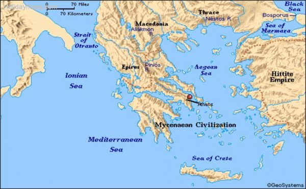 Map Of Ancient Greece Holidaymapq Com
