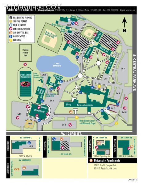 chicagocampusmapsaintxavieruniversity Map Holiday