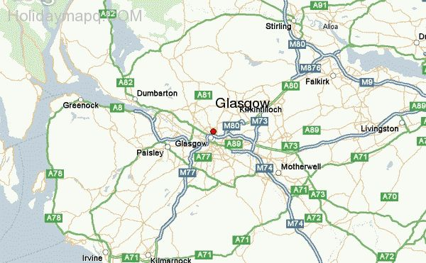 Map of glasgow HolidayMapQcom