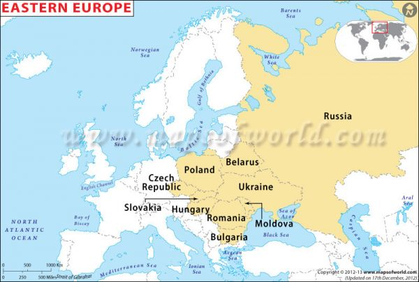 Map of europe eastern - Holiday Map Q | HolidayMapQ.com