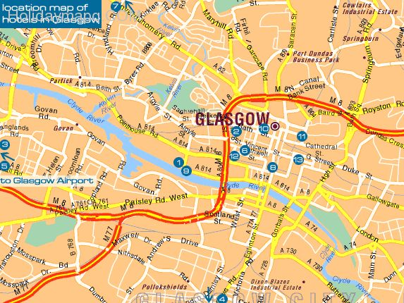Map of glasgow – Tourist Map Glasgow