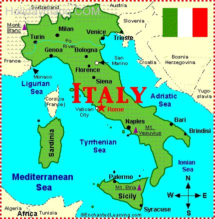Free Map Of Italy.Italy Map Free Holidaymapq Com