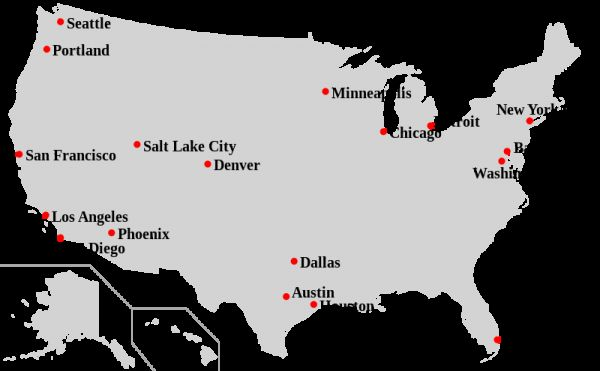 List of us cities and states | Holiday Map Q | HolidayMapQ.com ®