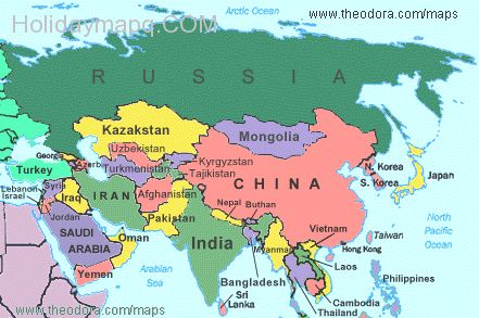 Map of countries in asia my blog asia major tourist attractions maps political gumiabroncs