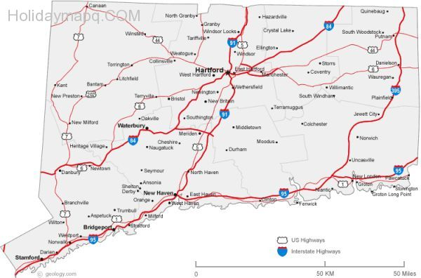 map-of-connecticut-cities-connecticut-road-map