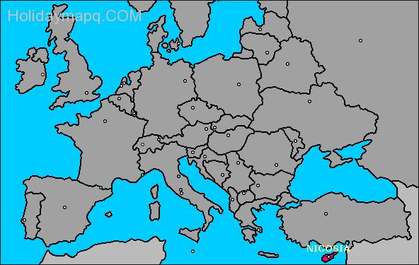 Where Is Cyprus Located On The World Map.Map Of Europe Cyprus Holidaymapq Com