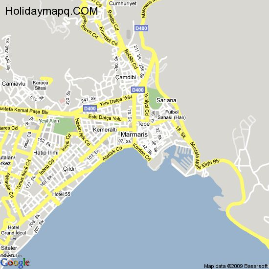 Map of marmaris HolidayMapQcom
