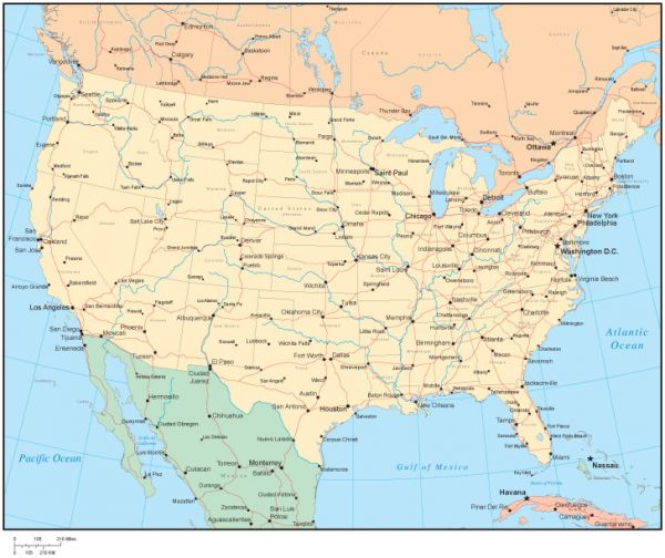 multi-color-united-states-map-with-us-states-canadian-provinces-