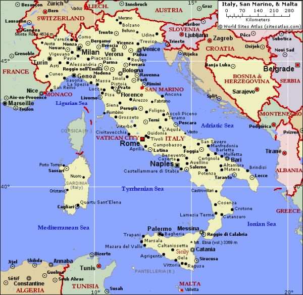 Political map of italy and malta world sites atlas holidaymapq political map of italy and malta world sites gumiabroncs Image collections