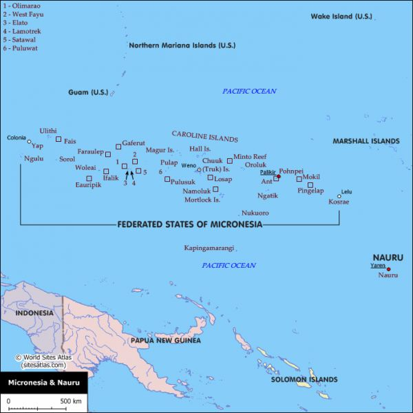 political-map-of-the-federated-states-of-micronesia-and-nauru-