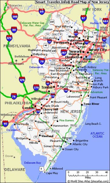 the-smart-travelers-road-map-of-new-jersey